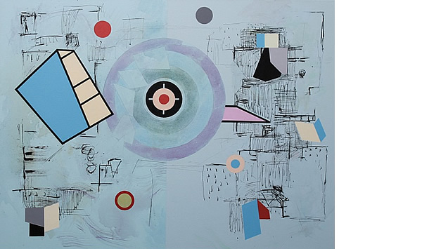 Michael Calver STELLULATE 2013 30x40ins Acrylic w.colour and ink on canvas