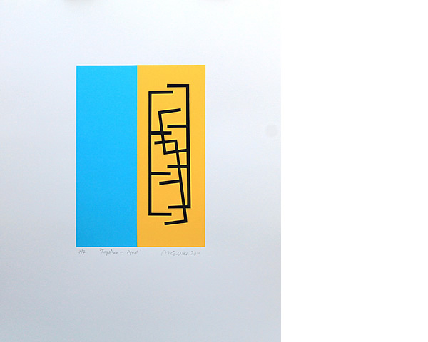 Michael Calver Together or Apart 2011 Screen Print Ed of 7 Fabriano Artistico paper